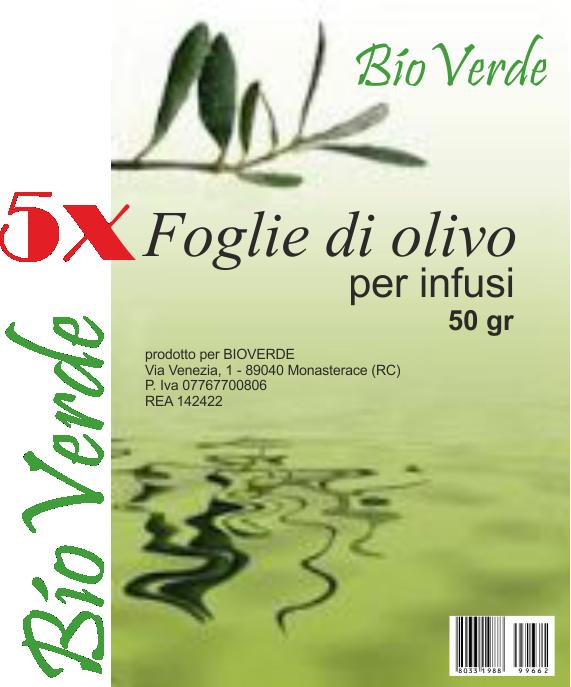 foglie di olivo in buste